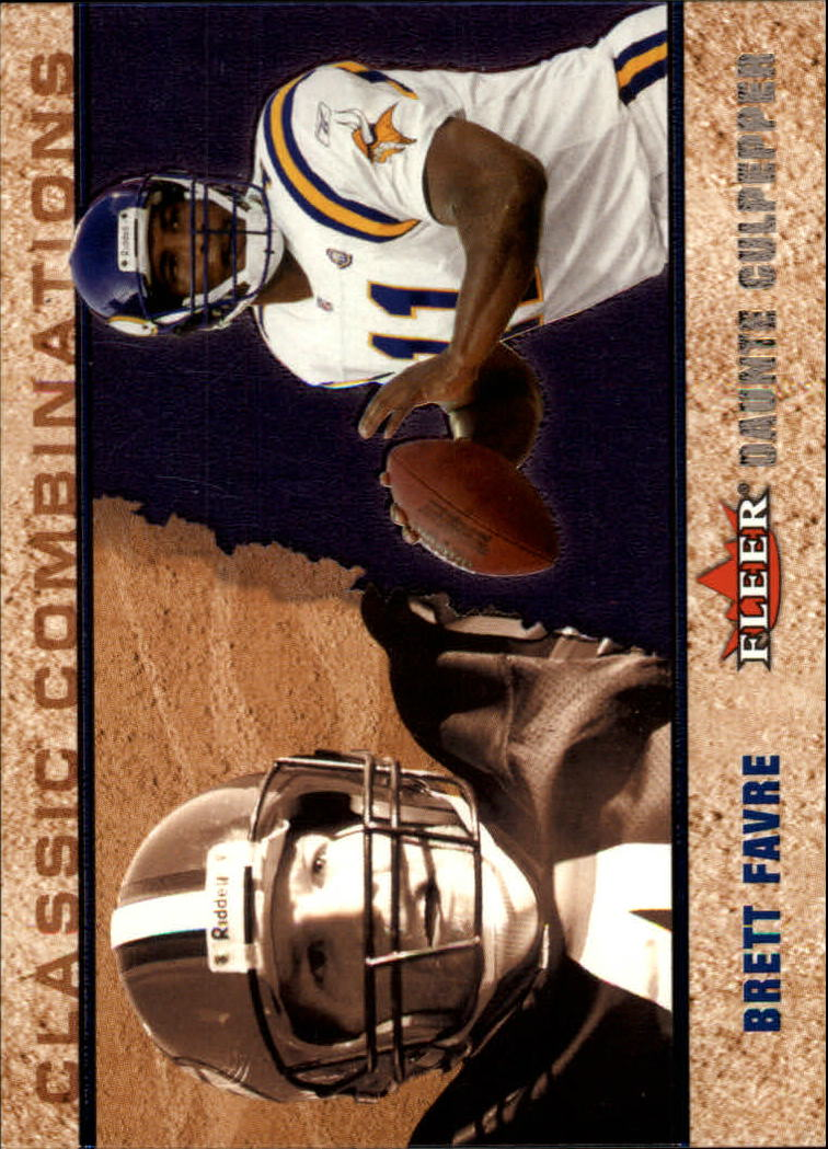 2002 Fleer Tradition Classic Combinations Hobby #15 Brett Favre/Daunte Culpepper