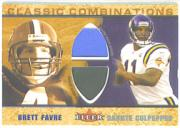 2002 Fleer Tradition Classic Combinations Memorabilia Duals #10 Brett Favre/Daunte Culpepper
