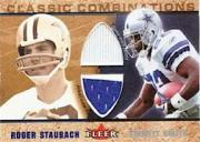 2002 Fleer Tradition Classic Combinations Memorabilia Duals #19 Roger Staubach/Emmitt Smith
