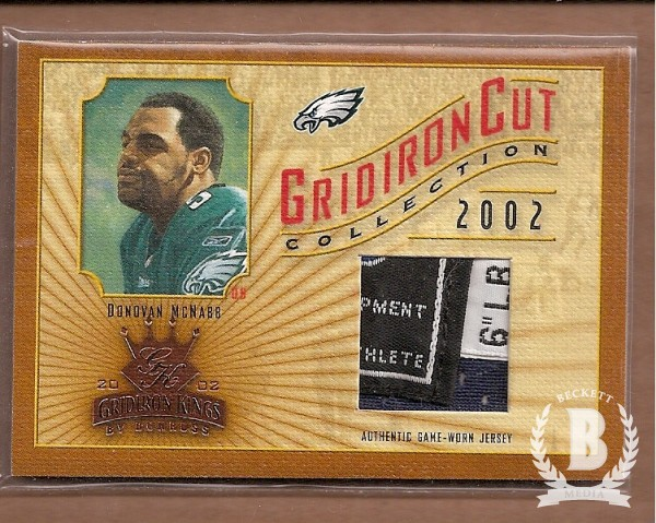 2002 Gridiron Kings Gridiron Cut Collection #GC49 Donovan McNabb JSY/400