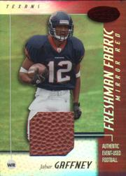 2002 Leaf Certified Mirror Red Materials #111 Jabar Gaffney
