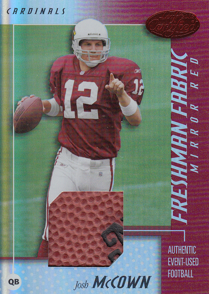 2002 Leaf Certified Mirror Red Materials #118 Josh McCown