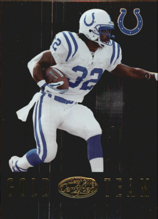2002 Leaf Certified Gold Team #GT7 Edgerrin James