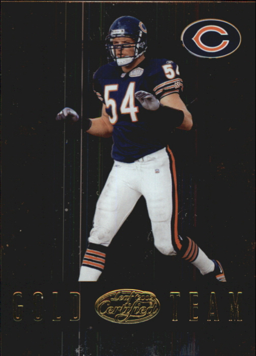 2002 Leaf Certified Gold Team #GT20 Brian Urlacher