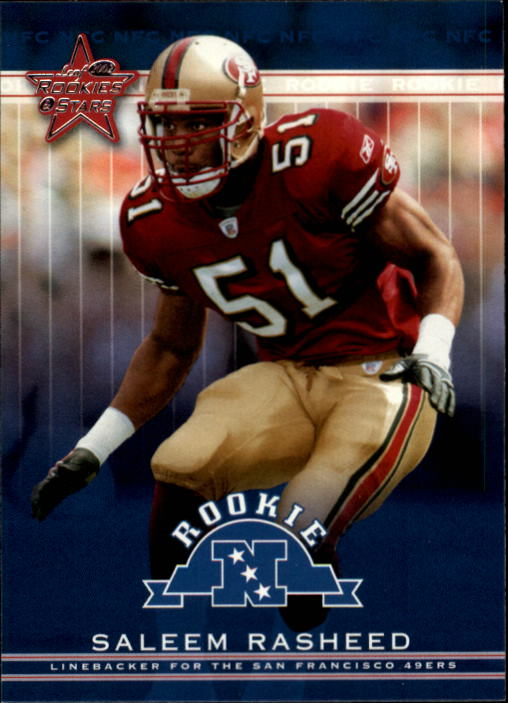 2002 Leaf Rookies and Stars #161 Saleem Rasheed RC