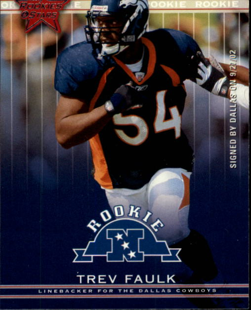 2002 Leaf Rookies and Stars #290 Trev Faulk RC
