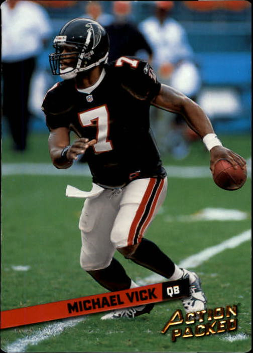 2002 Leaf Rookies and Stars Action Packed Gold #16 Michael Vick