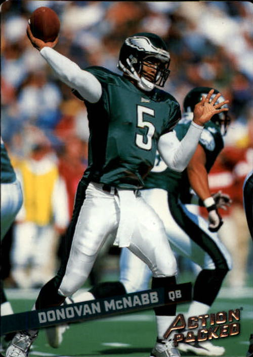 2002 Leaf Rookies and Stars Action Packed Silver #12 Donovan McNabb