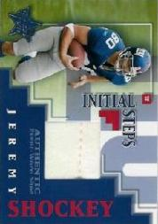 2002 Leaf Rookies and Stars Initial Steps #IS10 Jeremy Shockey