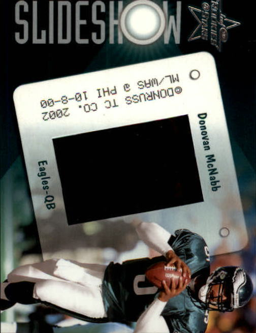 2002 Leaf Rookies and Stars Slideshow #SS5 Donovan McNabb