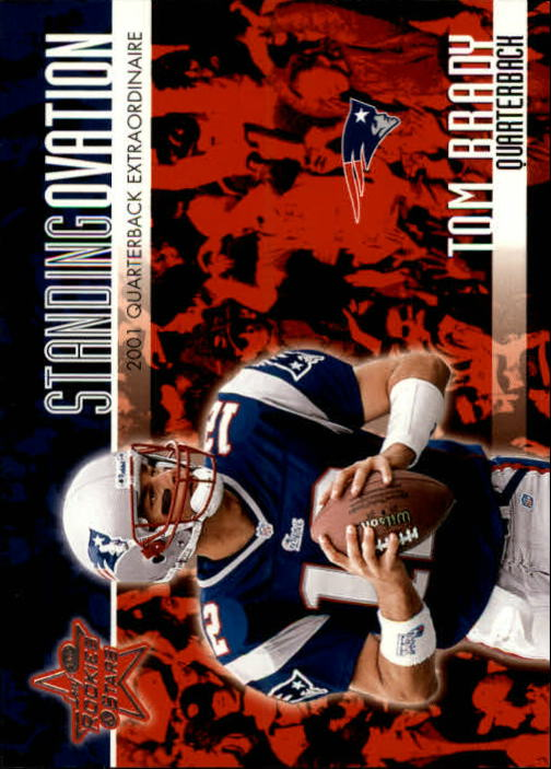 2002 Leaf Rookies and Stars Standing Ovation #SO1 Tom Brady