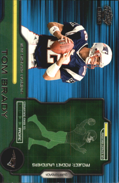 2002 Pacific Rocket Launchers #10 Tom Brady