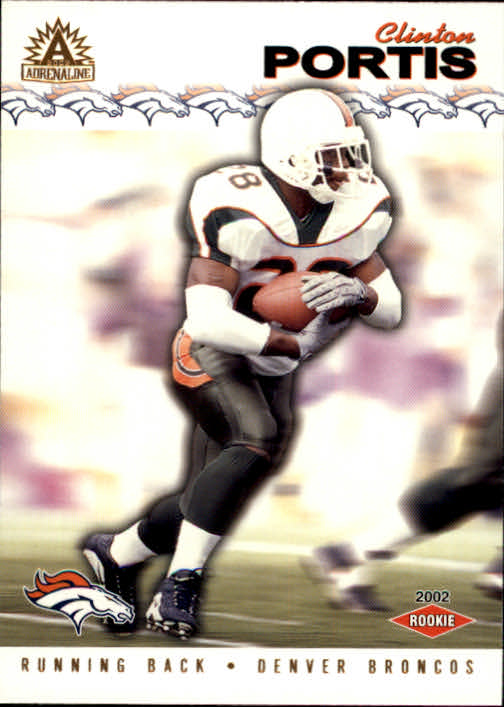 2002 Pacific Adrenaline #89 Clinton Portis RC