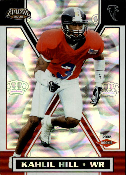 2002 Pacific Exclusive #8 Kahlil Hill RC