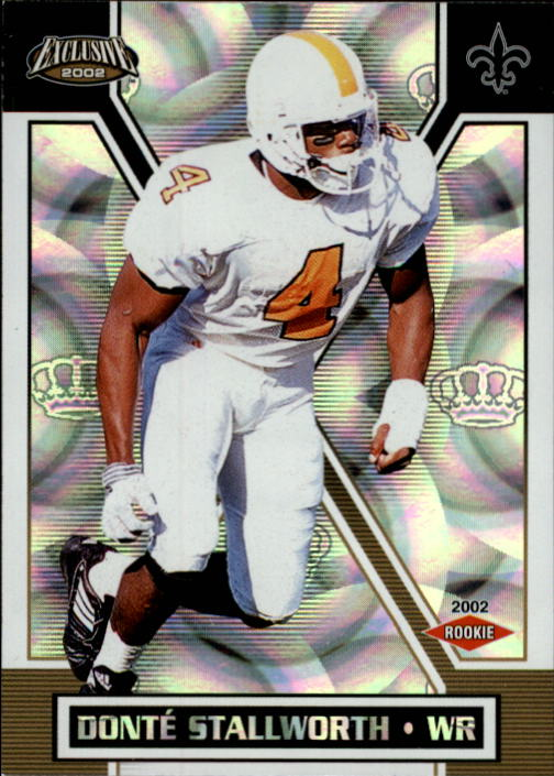 2002 Pacific Exclusive #196 Donte Stallworth RC