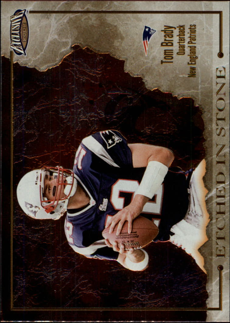 2002 Pacific Exclusive Etched in Stone #7 Tom Brady