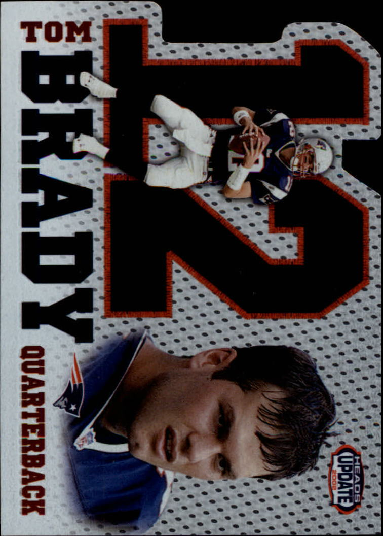 2002 Pacific Heads Update Big Numbers #15 Tom Brady