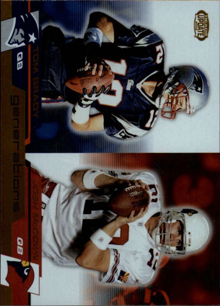2002 Pacific Heads Update Generations #8 Tom Brady/Josh McCown