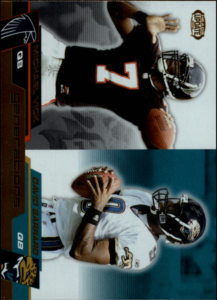 2002 Pacific Heads Update Generations #10 Michael Vick/David Garrard