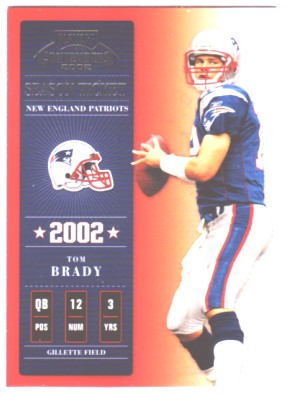 2002 Playoff Contenders #7 Tom Brady