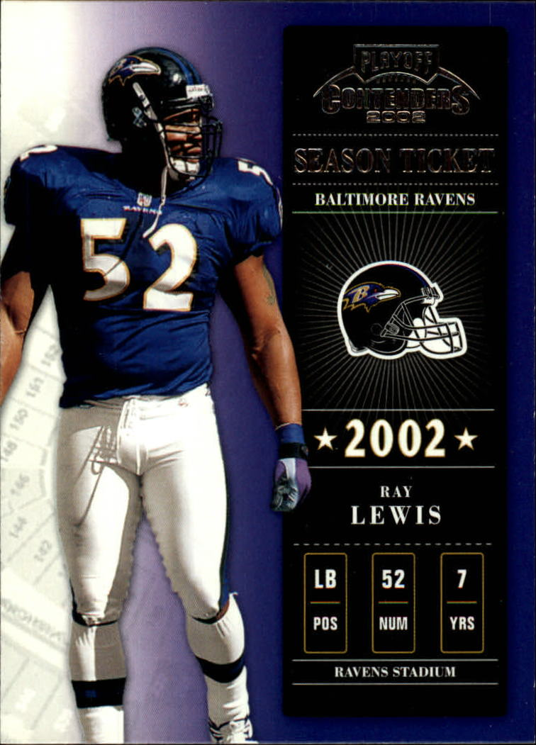 2002 Playoff Contenders #15 Ray Lewis