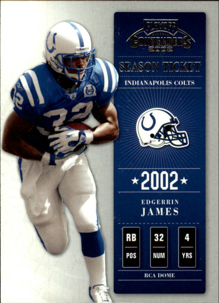 2002 Playoff Contenders #33 Edgerrin James