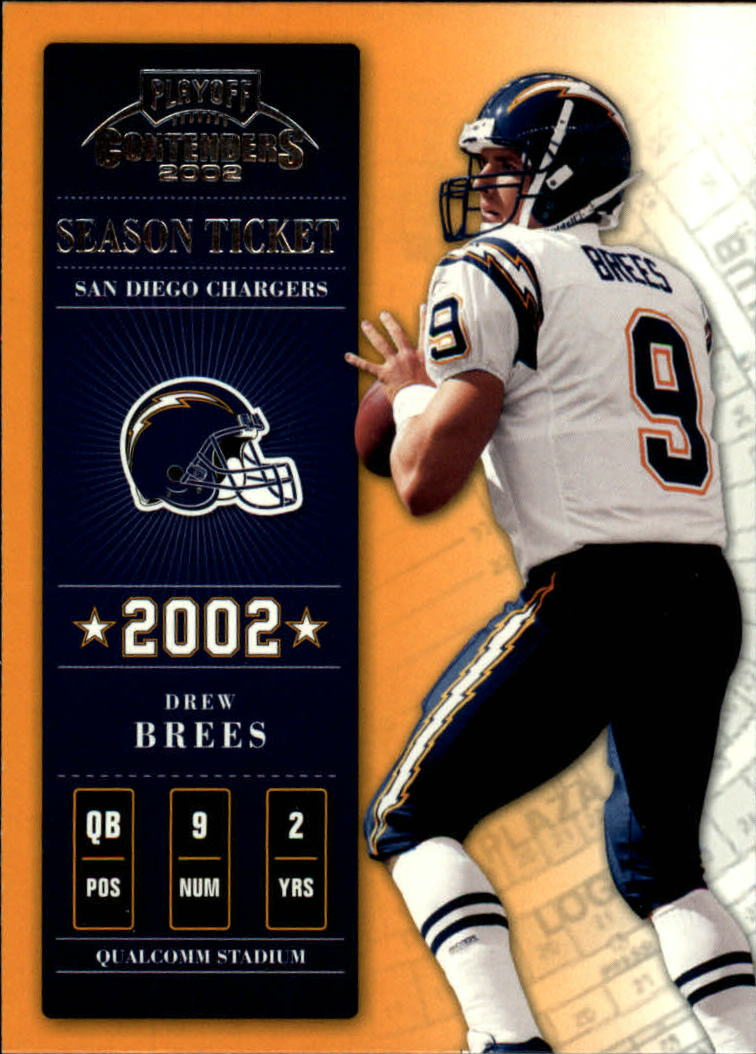 2002 Playoff Contenders #50 Drew Brees