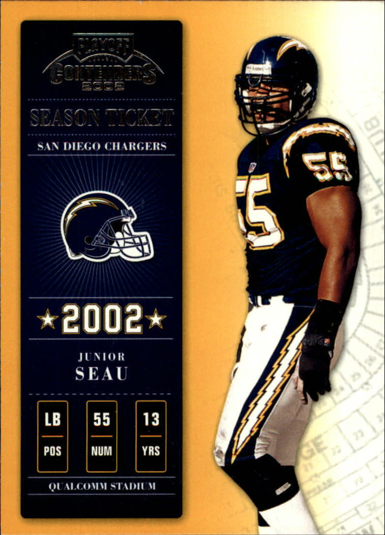 2002 Playoff Contenders #52 Junior Seau