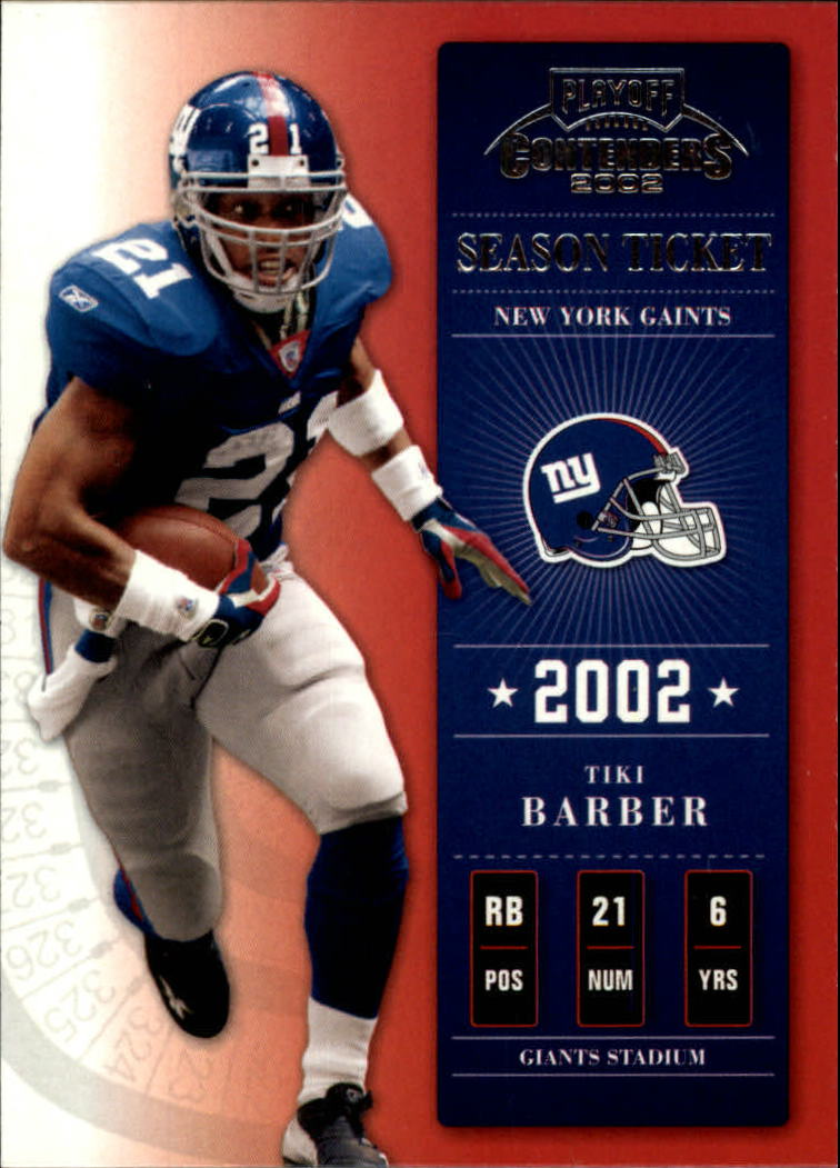 2002 Playoff Contenders #57 Tiki Barber