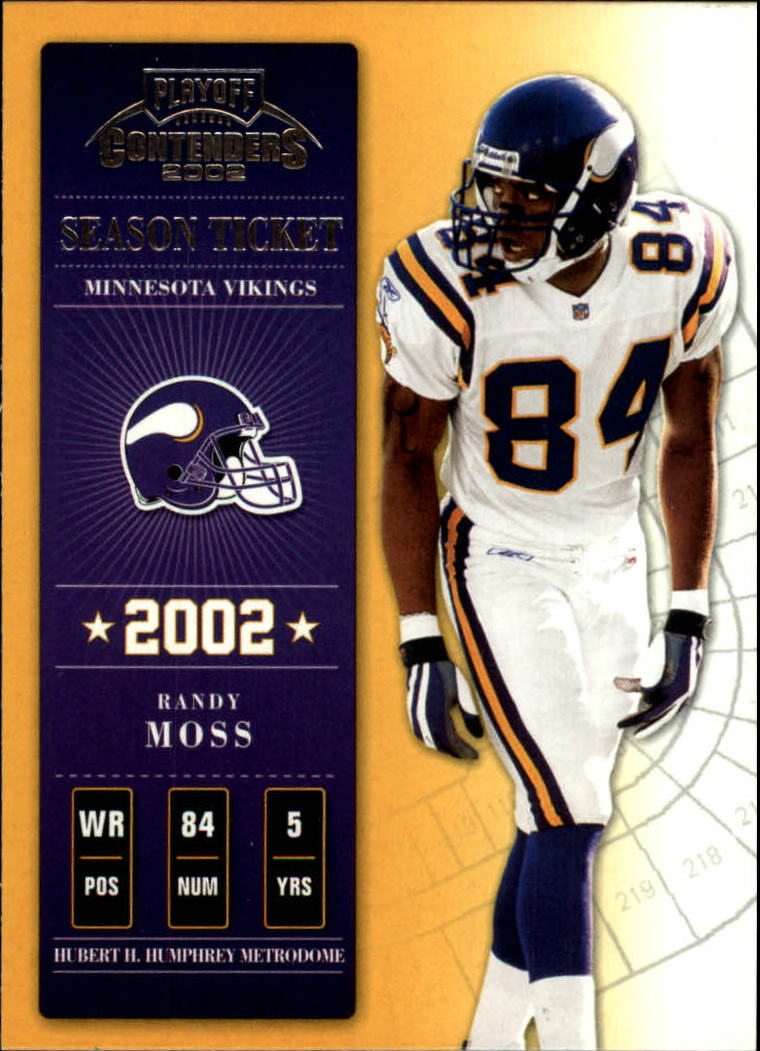 2002 Playoff Contenders #75 Randy Moss