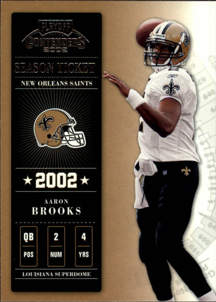 2002 Playoff Contenders #81 Aaron Brooks