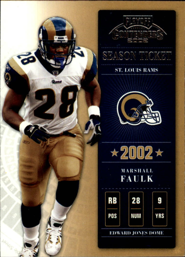 2002 Playoff Contenders #92 Marshall Faulk