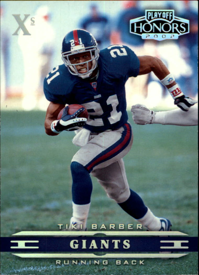 2002 Playoff Honors X's #60 Tiki Barber