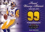 2002 Playoff Honors Award Winning Materials #AW7 Kurt Warner