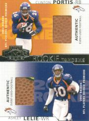 2002 Playoff Honors Rookie Tandems/Quads #RT5 Clinton Portis/Ashley Lelie