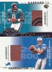 2002 Playoff Honors Rookie Tandems/Quads #RT9 Joey Harrington/David Garrard