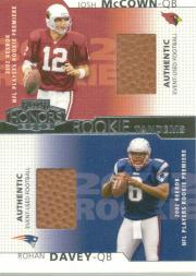2002 Playoff Honors Rookie Tandems/Quads #RT10 Josh McCown/Rohan Davey