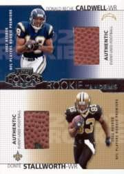 2002 Playoff Honors Rookie Tandems/Quads #RT11 Donte Stallworth/Reche Caldwell
