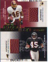 2002 Playoff Honors Rookie Tandems/Quads #RT14 T.J.Duckett/Ladell Betts