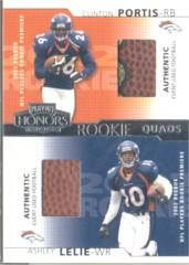 2002 Playoff Honors Rookie Tandems/Quads #RQ18 Clinton Portis/Ashley Lelie/Maurice Morris/Andre Davis