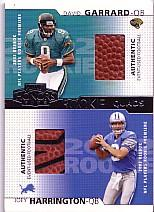 2002 Playoff Honors Rookie Tandems/Quads #RQ20 Joey Harrington/David Garrard/Josh McCown/Rohan Davey