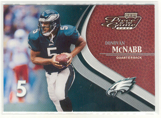 2002 Playoff Piece of the Game #25 Donovan McNabb