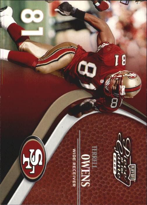 2002 Playoff Piece of the Game #65 Terrell Owens