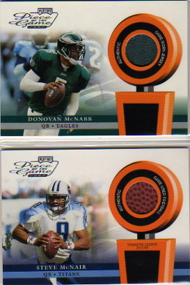 2002 Playoff Piece of the Game Materials #16J Donovan McNabb JSY