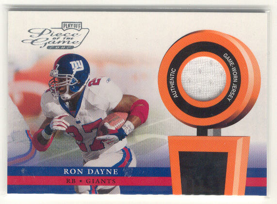 2002 Playoff Piece of the Game Materials #45J Ron Dayne JSY