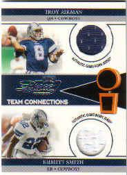 2002 Playoff Piece of the Game Materials #63J Troy Aikman JSY/Emmitt Smith JSY/500
