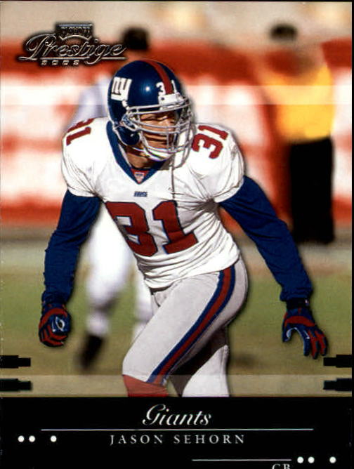 2002 Playoff Prestige #95 Jason Sehorn