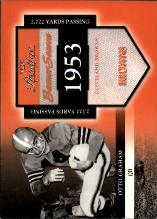 2002 Playoff Prestige Banner Season #BS29 Otto Graham/1953