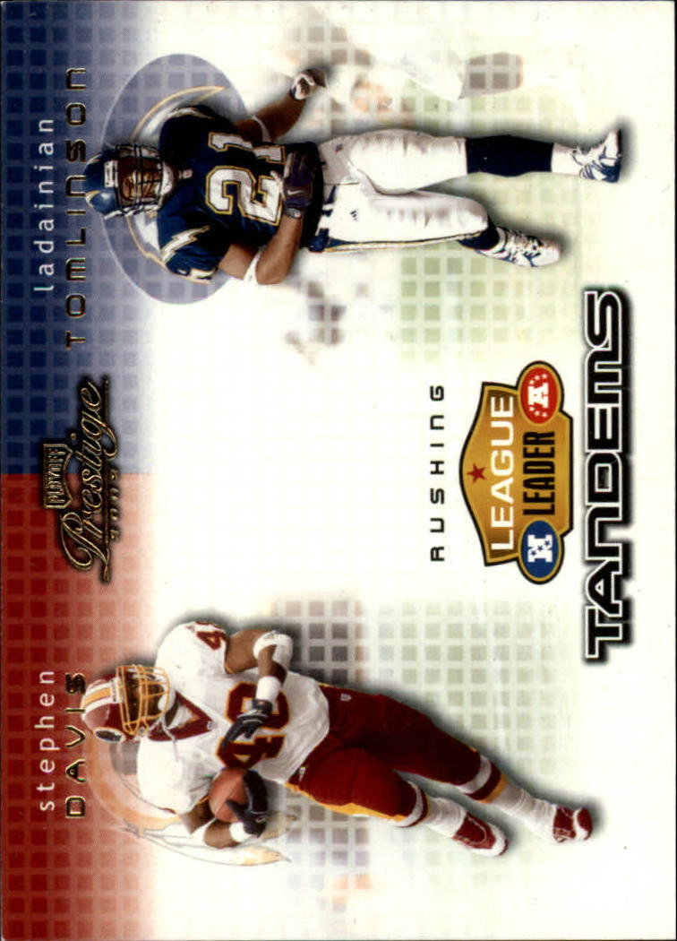2002 Playoff Prestige League Leader Tandems #LL11 LaDainian Tomlinson/Stephen Davis