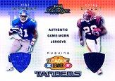 2002 Playoff Prestige League Leader Tandems Materials #LL12 Corey Dillon/Tiki Barber